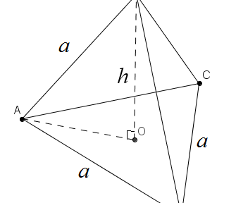 正四面體的高和邊長的關係