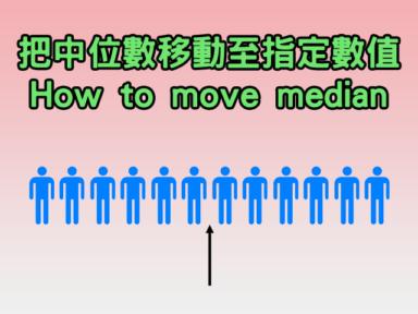 如何把中位數移動至指定數值